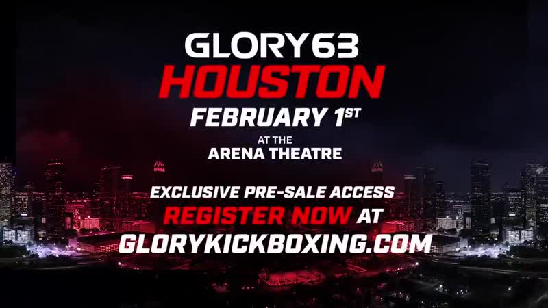 Houston, we have liftoff! We head to the Lone Star State for the first time on February 1st for GLORY63 Houston! Sign up for pre