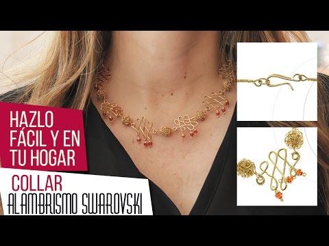 Como hacer un collar en técnica de Alambrismo | VARIEDADES CAROL