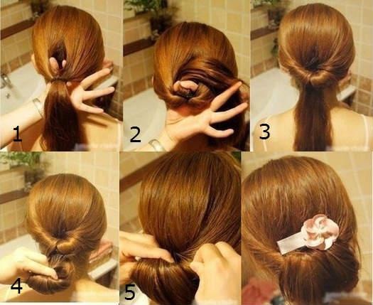 прически на каждый день инструкция для средних волос