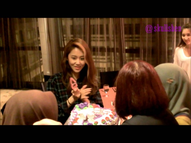 [Fancam] 4Minute's Gayoon Surprise Birthday Celebration by Malaysian 4Nia