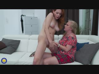 Candy red 19, lily may eu 49 - 2 old and young lesbians playing with eachother