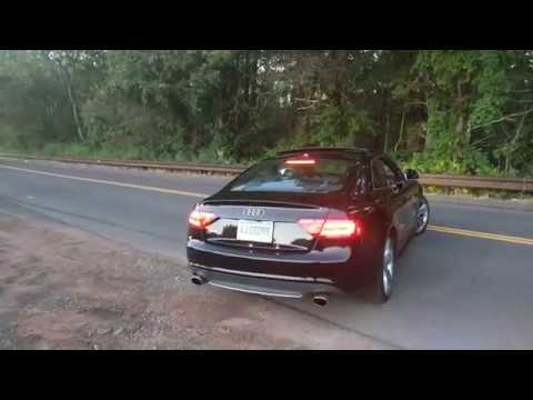 Audi S5 4.2L V8 Straight Pipe Drive-by, Take-off, and Downshifting
