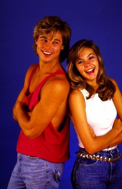 Подборка фотографий с молодыми Брэдом Питтом и Шэлейн МакКолл. 1980 годы.