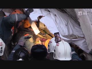 Спасение мальчика из-под завалов в Магнитогорске