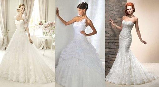 f85e3ac9fed Свадебное платье белого цвета. Классический белый цвет будет лучше всего  смотреться на невестах со светлым и оливковым цветом кожи.