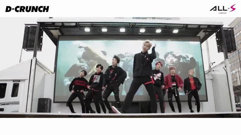 D-CRUNCH(디크런치) - 명동 버스킹 방탄소년단 Fake Love IDOL