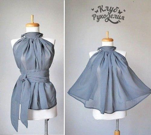 Легкая блузка на лето (2 фото)