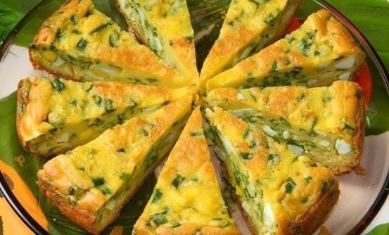 Пирог с яйцом и луком в духовке рецепт на кефире
