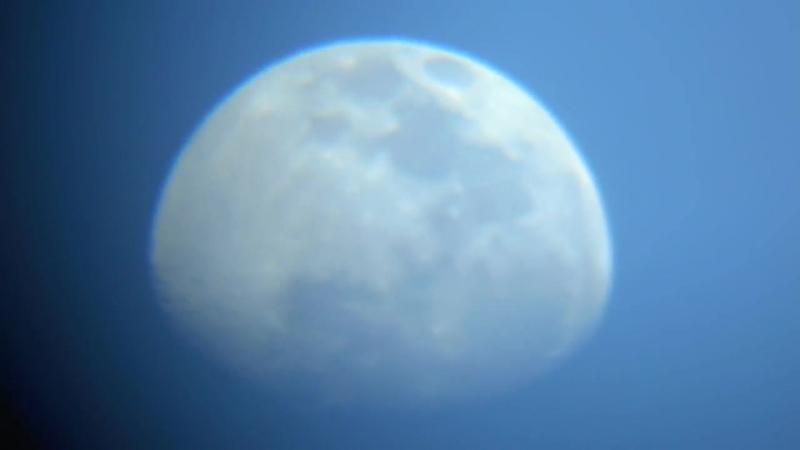 Moon video footage (raw) through a F36050 telescope 16-09-13 Sao Paulo Brazil