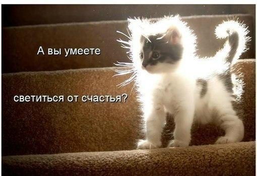 А вы умеете светиться от счастья