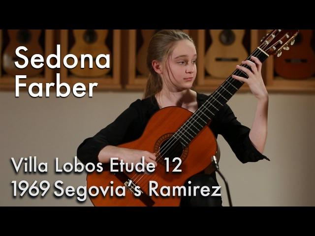 Villa Lobos Etude 12 - Sedona Farber plays 1969 Ramirez (ex Segovia)