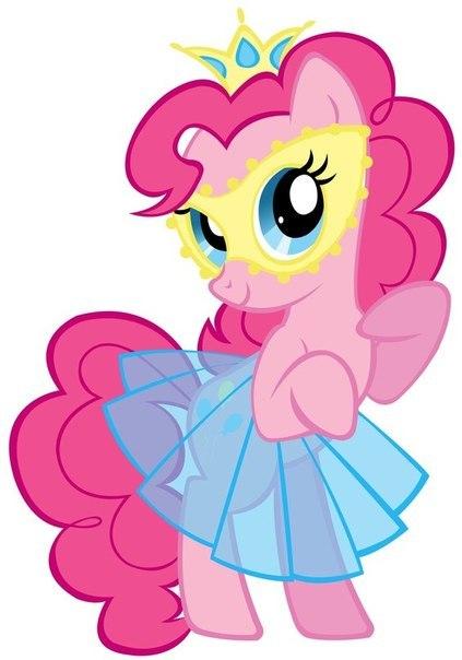 Пони пинки в платье