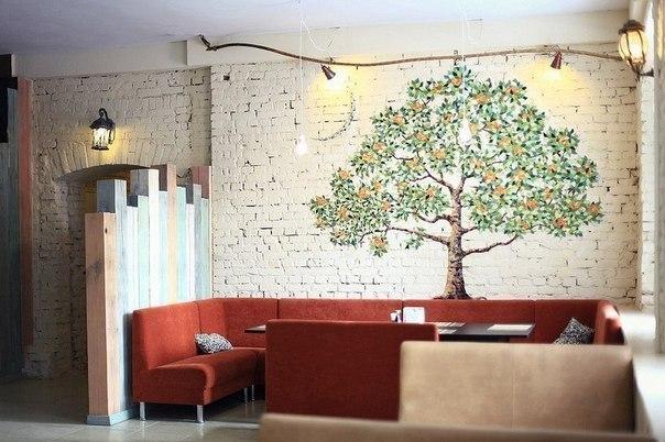 Апельсиновое дерево, мозаика
