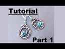 Wire Wrapping Tutorial - Beth's Earrings - Part 1