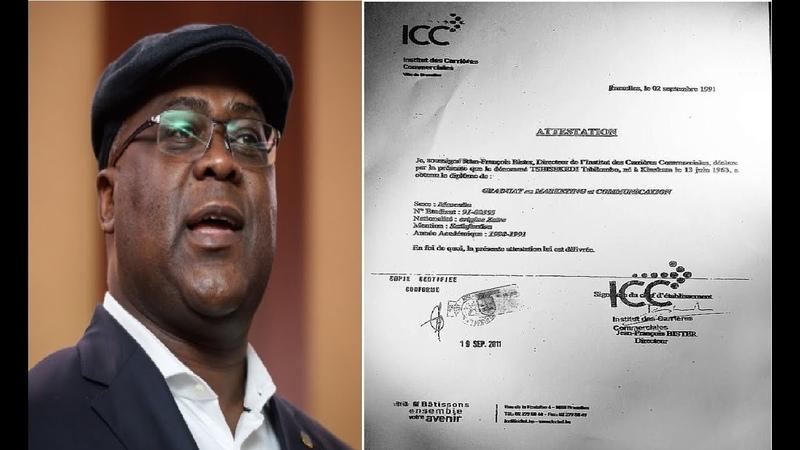 URGENT ba medias ya ba BELGES ba confirmer que diplome ya FATSHI eza faux ICC e porter plainte
