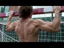 Natural junior bodybuilder outdoor training 1