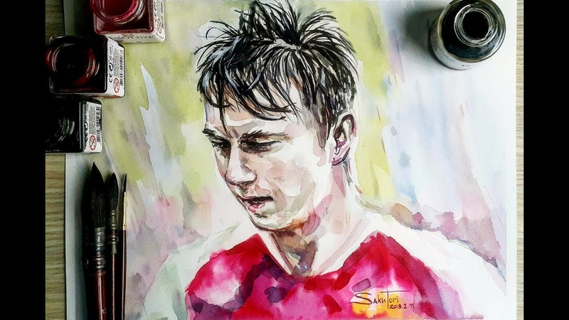 Александр Головин ( Alexandr Golovin ) watercolor by SakuTori