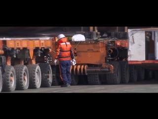 """Сборка танкера """"Псков"""" (timelapse, zeitraffer) на верфи STX в Южной Корее."""
