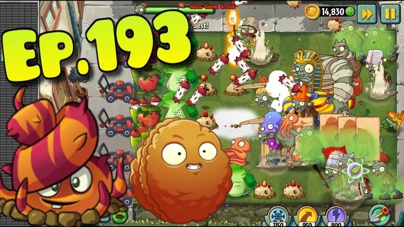 Plants vs. Zombies 2 - Premium Plants Explode-O-Nut, Escape Root, Apple Mortar, Lava Guava (Ep.193)