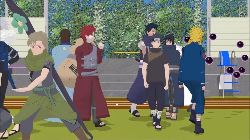 MMD Naruto・One・Two・Three・Madara/Minato/Shisui/Gaara/Yagura/Utakata/Obito/Tobirama/Izuna/Orochimaru