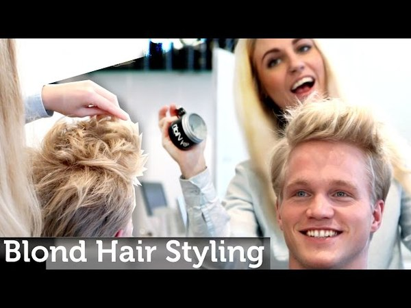 Mens Blond Hair Inspiration | Medium Short Length | Messy Look | Legendary Hairstyle by Slikhaar TV