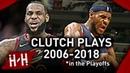 LeBron James Career EPIC CLUTCH Shots, Dunks, Blocks, Game-Winners in NBA Playoffs! (2006-2018)