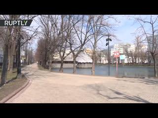 Самоизоляция в Москве: как выглядит центр столицы после введения ограничений из-за коронавируса | день седьмой