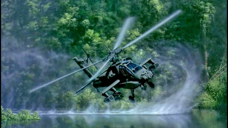 The AH-64 Apache Helicopter Shows Monstrous Power Capability