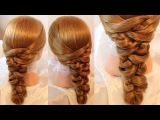 Коса с помощью резинок - 6