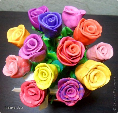 Как сделать цветок из пластилина своими руками