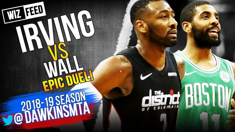 CLUTCH Kyrie Irving vs John Wall EPiC Duel 2018 12 12 Wall With 34 Kyrie With 38 Wiz FEED