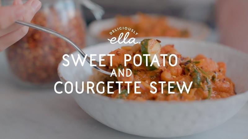 Sweet Potato Courgette Stew | Vegan | Deliciously Ella