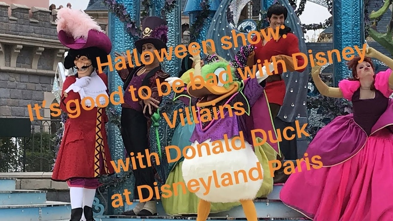 Halloween show with Donald Duck as maleficent It's good to be bad with disney villains 2018