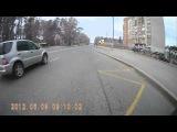 Ужасная авария, на перекрестке.