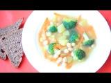Постный суп с нутом и брокколи