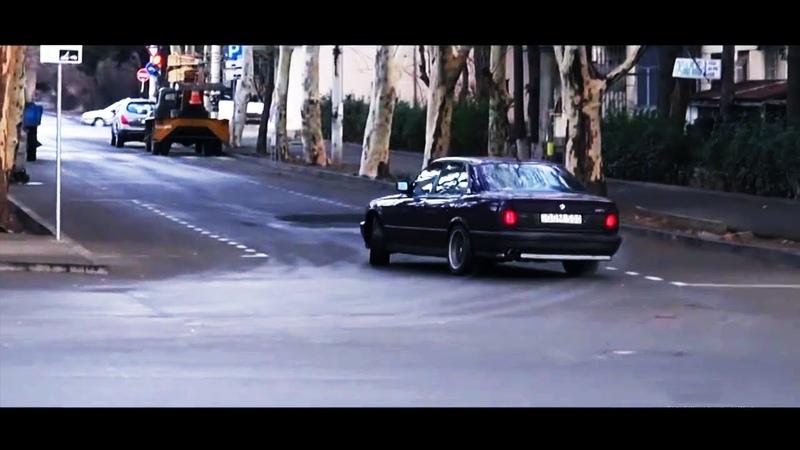 The Notorious B.I.G. 2Pac - Sideways BMW E34 M5 Illegal Drift (Giorgi Tevzadze)