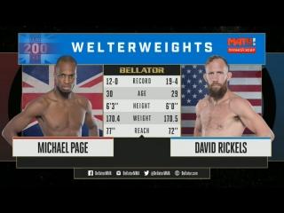 Bellator 200: Michael Page vs. David Rickels