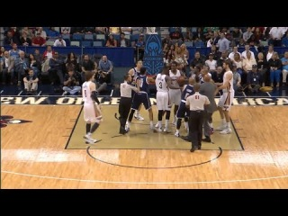 Austin Rivers Fights Nick Collison - Thunder vs Pelicans - April 14, 2014 - NBA 2013-2014