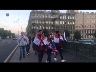 Рассвет и празднование победы на Невском проспекте #Ф2018