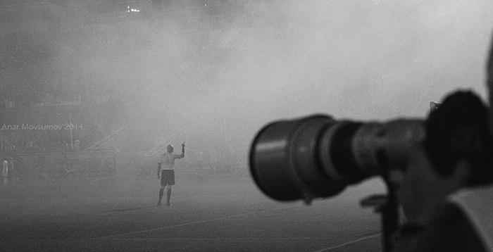 Дымовая завеса на Металлурге после гола Халка /2012