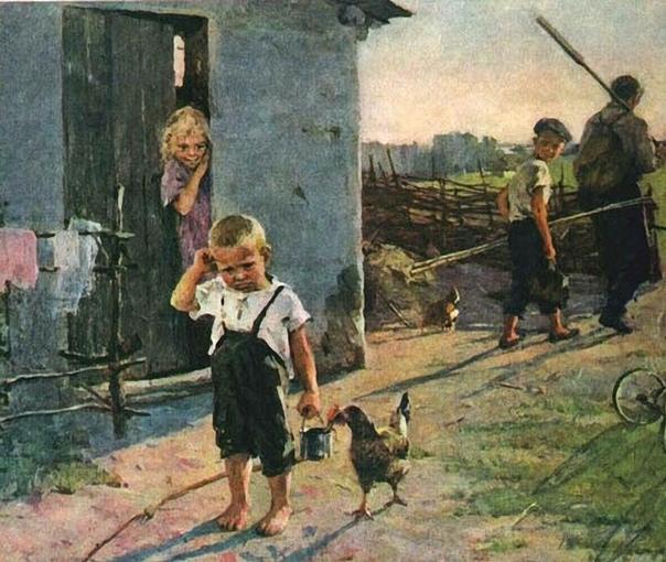 Картина «Не взяли на рыбалку», 1955 год.