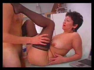 Секс с пожилой казашкой