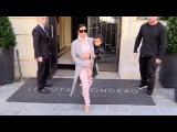 Ким и Нори покидают отель и направляются в аэропорт Парижа 01/10/14