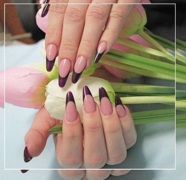 Фото наращивание ногтей формы миндаль