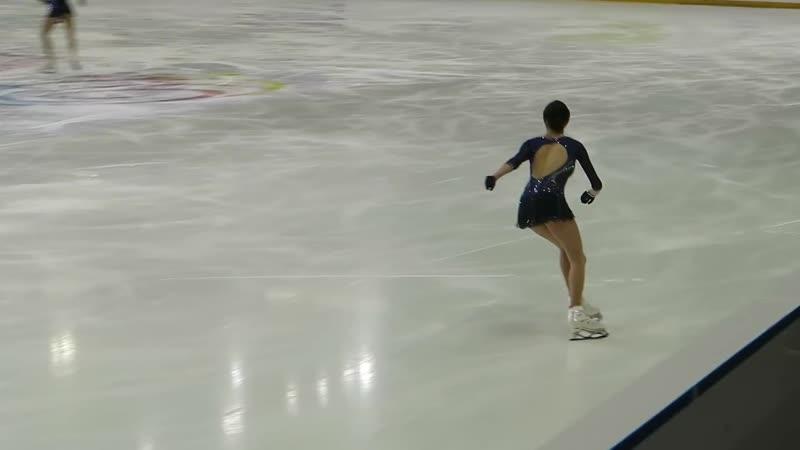 Evgenia Medvedeva SP Warmup 2018 Internationaux de France Grenoble
