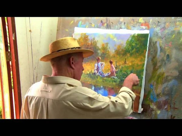 Midday Moment Speed Painting Time Lapse By Robert Hagan