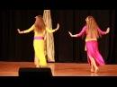 Дуэт студии восточных танцев Ферюза фольклор -2-е на конкурсе Донбасс встречает 13.10.13г.