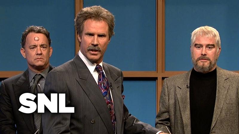 Celebrity Jeopardy Kathie Lee Tom Hanks Sean Connery Burt Reynolds SNL