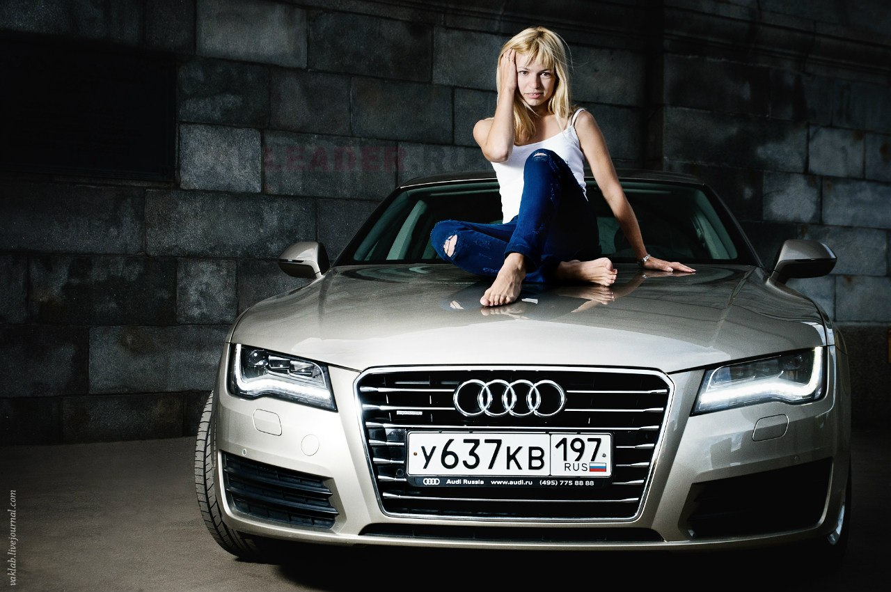 Sexy girl at Audi A7