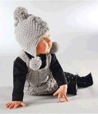 Детская шапочка с косой (3 фото)